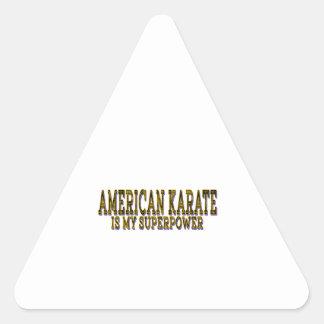 Judo is my American Karate Triangle Sticker