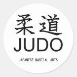 Judo-Japanese martial arts- Pegatina Redonda