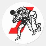 judo ju jitsu sticker