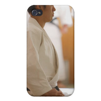 Judo Master Kneeling On a Mat iPhone 4 Covers