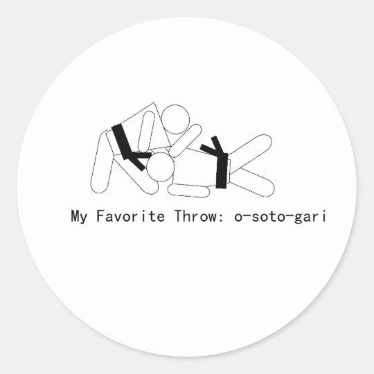 Judo My Fav Throw Osoto Gari Classic Round Sticker