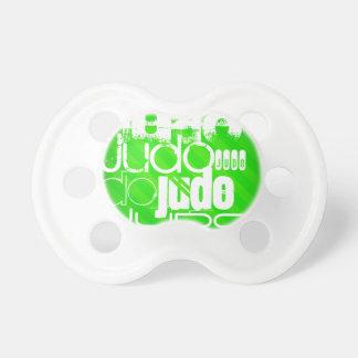 Judo; Neon Green Stripes BooginHead Pacifier
