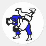 Judo Pegatina Redonda