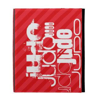 Judo; Scarlet Red Stripes iPad Cases
