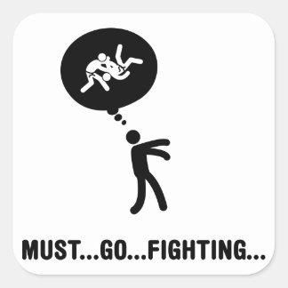 Judo Square Sticker