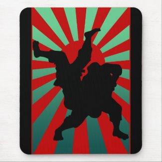 judo sun rising mousepads