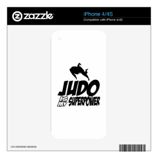 Judo Superpower Designs Decal For iPhone 4