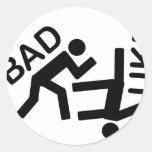 Judo themed gear round stickers