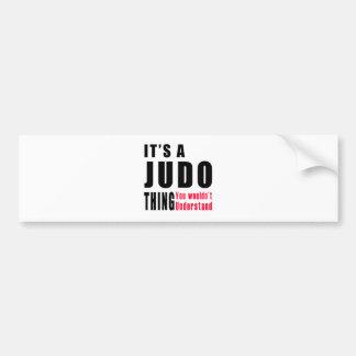 Judo Thing Designs Bumper Sticker
