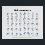 "Judo throws poster<br><div class=""desc"">Poster showing the 40 traditional throws of Kodokan Judo (The Gokyo-no-waza).</div>"