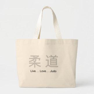 Judo vivo del amor bolsa tela grande