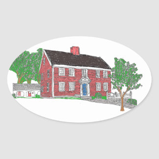 Judson House Oval Stickers