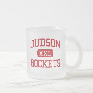 Judson - Rockets - High School - Converse Texas Frosted Glass Coffee Mug