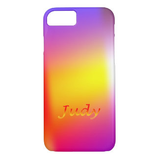 Judy Colorful Personalized iPhone cover