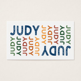 Judy Cute Colorful Business Card