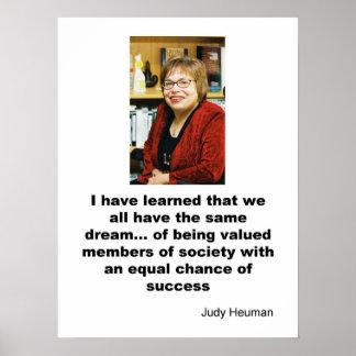 Judy Heuman Poster