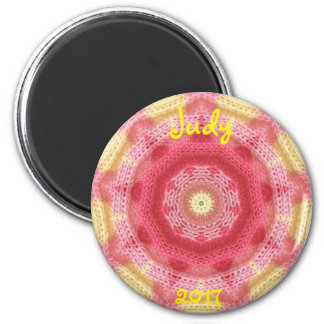 JUDY ~ Personalized Knitting Design Fractal ~ Magnet