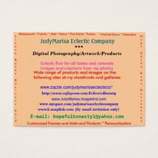 JudyMarisa Eclectic Company, Digital Photograph... Business Card