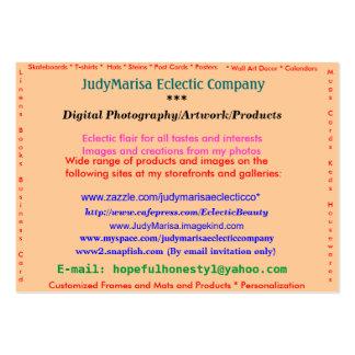 JudyMarisa Eclectic Company, fotografía de Digitac Tarjeta De Visita