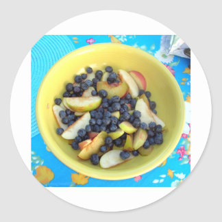 Judy's Fruit Salad Classic Round Sticker
