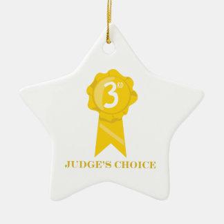 Jueces bien escogidos adorno navideño de cerámica en forma de estrella