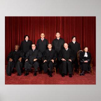 Jueces del Tribunal Supremos de Estados Unidos Poster