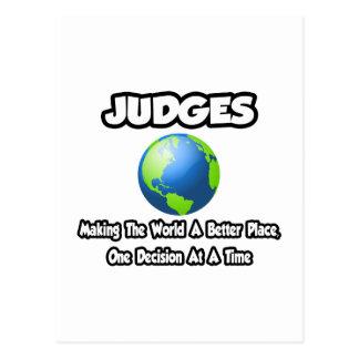 Jueces… que hacen el mundo un mejor lugar tarjetas postales