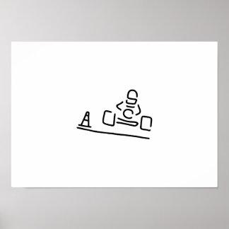 juega a las cartas cart motorsport fahrer rennauto póster