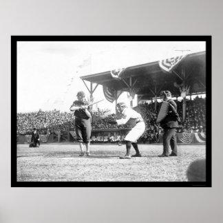 Juego 1909 de los senadores béisbol de los yanquis posters