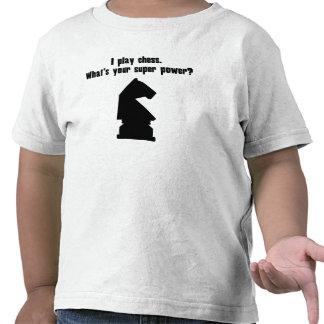 Juego a ajedrez. ¿Cuál es su superpoder? Camiseta