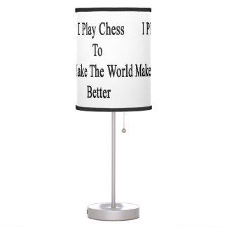 Juego a ajedrez para hacer el mundo mejor