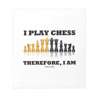 Juego a ajedrez por lo tanto, yo soy (el juego de bloc de papel
