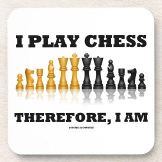 Juego a ajedrez por lo tanto, yo soy (el juego de posavasos de bebidas