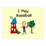 Juego a béisbol postales