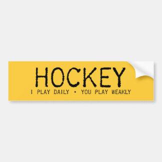 Juego a hockey diario pegatina de parachoque