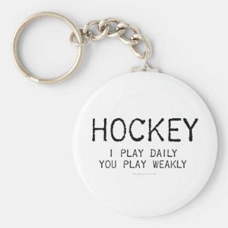 Juego a hockey diario llaveros personalizados