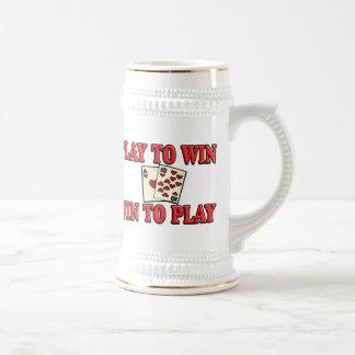 Juego a provechoso para ambas partes para jugar - jarra de cerveza
