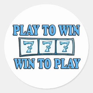 Juego a provechoso para ambas partes para jugar - pegatina redonda