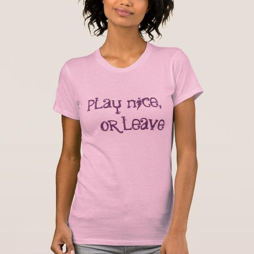 juego agradable,    o licencia camisetas