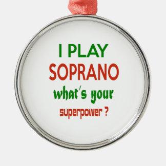 ¿Juego al soprano cuál es su superpotencia? Adorno Redondo Plateado