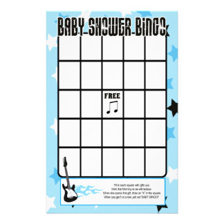 Juego azul del bingo de la fiesta de bienvenida al papeleria de diseño