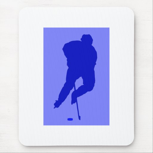 Juego azul del hockey difícilmente alfombrillas de raton