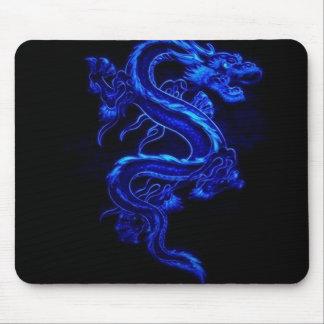 Juego azul Mousepad del dragón