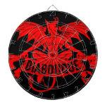 Juego con alas de Satan del demonio del diablo roj Tablero Dardos
