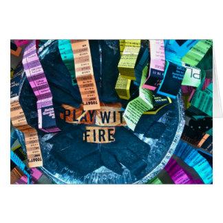 Juego con el fuego Notecard Tarjeta Pequeña