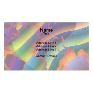 Juego con el mapa del mundo del color tarjetas de visita