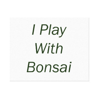 Juego con el texto del verde de los bonsais impresión en lienzo
