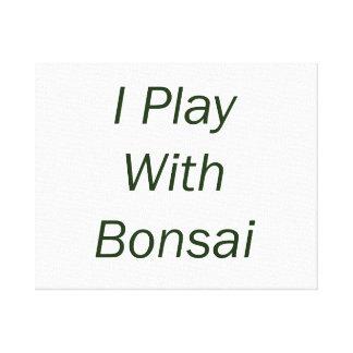 Juego con el texto del verde de los bonsais impresiones de lienzo