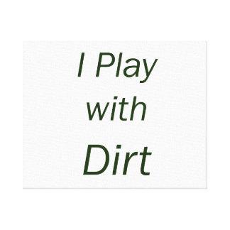 Juego con las letras del verde de la suciedad lienzo envuelto para galerías
