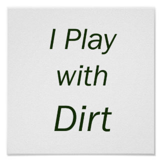Juego con las letras del verde de la suciedad posters